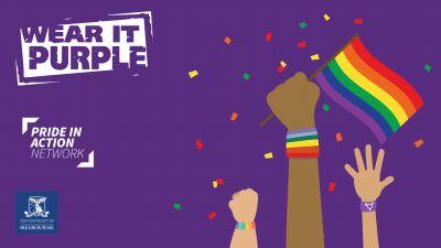 Wear it purple 2021 Zoom Background - Dark